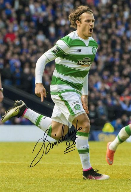 Erik Sviatchenko, Glasgow Celtic & Denmark, signed 12x8 inch photo.